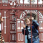 Blonde Russian Children, Russian Orthodox Church by Jane McDougall