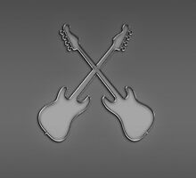 Double Axe crossed electric guitars by CreativeImage