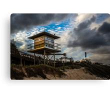 A lifeguard tower set Canvas Print