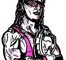 Bret The Hitman Hart by sketchNkustom