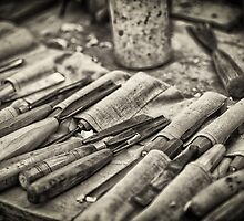 Work Tools: Chisel - monochrome by Dobromir Dobrinov