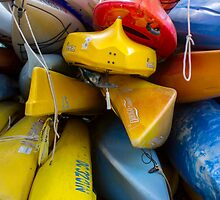 WDC.XXI | Colorful Stack of Kayaks on the Georgetown Waterfront by Spencer McNeil