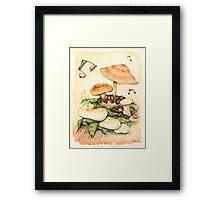Mushroom Music Framed Print