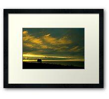 L'Iroise et les nuages Framed Print