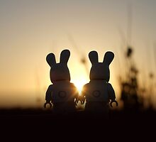 Bunny - Silhouettes at Sunset by emmkaycee