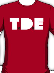 Official TxDxE logo tee in white. T-Shirt