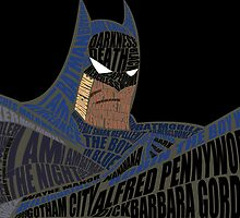 DCAU Batman Typography by wizardvictor