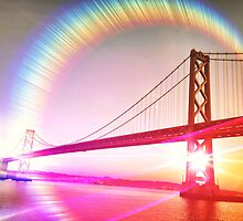 Surreal Perspective of The Bay Bridge by jazzwall