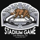 LA Outdoor Game T-Shirt (White Text) by theroyalhalf