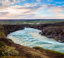 River at Sunrise - Godafoss, Iceland by thewaxmuseum