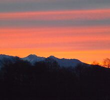 Burnt Orange Sequim Sunset by Moonamie