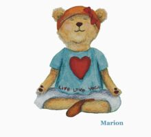 Marion live love yoga bear Kids Clothes