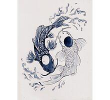 Ying Yang Koi Fish Photographic Print