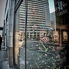 Christmas Window Reflection - Adams Street - Chicago by Jack McCabe