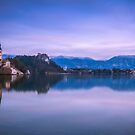 Church in the middle of Lake Bled by Zoltán Duray