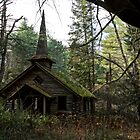 Abandoned church in the woods by Robert Wirth