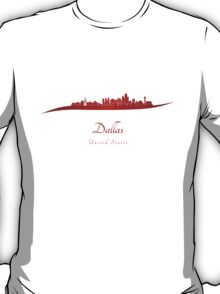 Dallas skyline in red T-Shirt