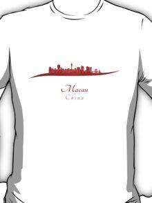Macau skyline in red T-Shirt