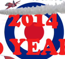 The Red Arrows 50 Years 2014 - Tee Shirt Sticker