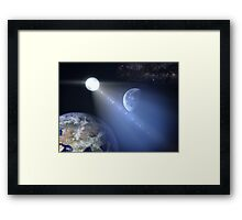 Alien Visitor Framed Print