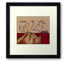 March On Framed Print