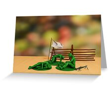 Toy Soldiers - Defeated Greeting Card