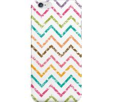 Colorful grunge chevron zig zag pattern iPhone Case/Skin