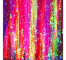 WATERFALLS Abstract Acrylic Pink Purple Ocean Waves Stars Fine Art Painting Photographic Print