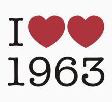 I heart 1963 Kids Clothes