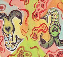 Siamese Twin Snake Mermaids by craftyhag