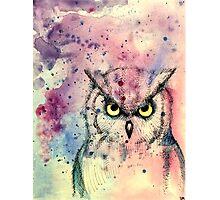 Watercolor Owl Photographic Print
