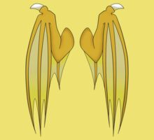 Dragon wings - yellow by 8Bit-Paws