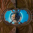 Bare Island pier, Botany Bay (stereographic projection) by Erik Schlogl