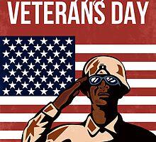 Veterans Day Greeting Card American by patrimonio