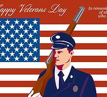 American Veterans Day Greeting Card Retro by patrimonio