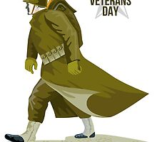 World War Two Veterans Day Greeting Card by patrimonio