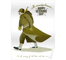 World War Two Veterans Day Greeting Card Poster
