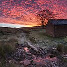 Wildboarclough Barn Sunrise by James Grant