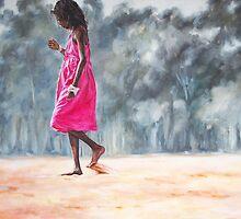 Girl in a Pink Dress by alstrangeways