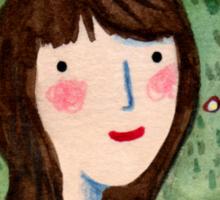 Self Portrait in Woodland Sticker
