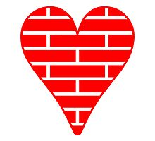 Red Bricks Heart by kwg2200