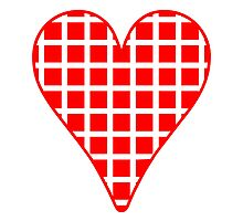 Red Squares Heart by kwg2200