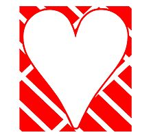 Red Diagonal Bricks Background Heart by kwg2200