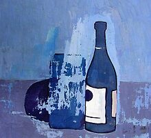 Bottle, Box, and Eggplant by Robert Holewinski