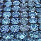 Blue Bowls, Persian Ceramics, Silk Road by Jane McDougall
