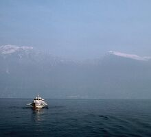 High Speed jetfoil passenger boat Lago Garda Italy 198404210049 by Fred Mitchell