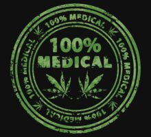 100% Medical Marijuana Stamp by Andrei Verner