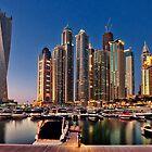 Dubai Marina night by naufalmq