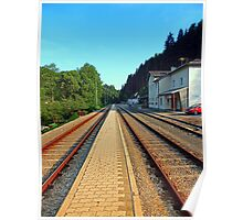 Haslach railway station | architectural photography Poster
