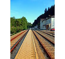 Haslach railway station | architectural photography Photographic Print